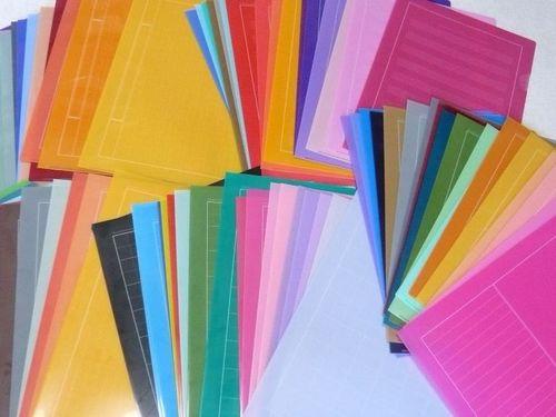 200色のクリアファイル