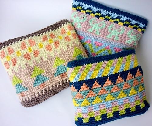 編み込みポーチ
