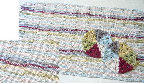 手織りのランチョンマット