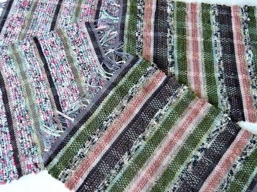 《裂き布&絲》織りテーブルマット