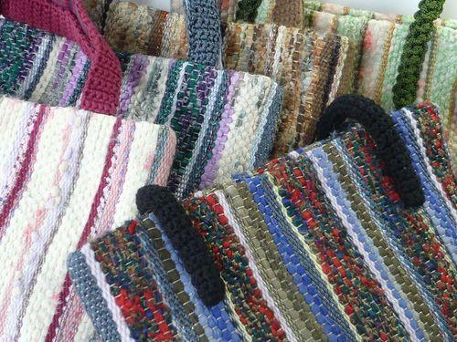 裂き布&絲の織りバッグ